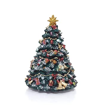 Dekoriert Musikalischen Revolvierend Weihnachtsbaum Karussell Spielt ...