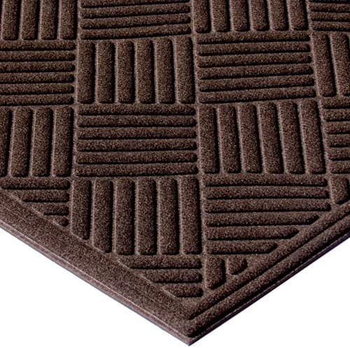 Apache Mills Textures Crosshatch Entrance Mat, 4-Feet by 6-Feet, Chocolate