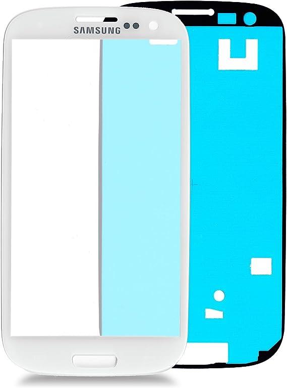 Samsung Galaxy S3 I9300 Cristal en Blanco: Juego de reparación * Nuevo * con cristal y adhesivo, pantalla Withe, parabrisas Completo, pantalla de Glass Repair Kit para S3, Repuesto para cristal: Amazon.es: