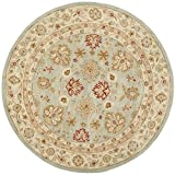 Safavieh Antiquities Collection AT822A Handmade Traditional Oriental Grey Blue and Beige Wool Round Area Rug (10' Diameter)
