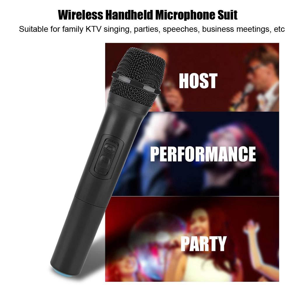Mariage en Plein Air Microphone VHF /à Main avec /Émetteur et R/écepteur pour R/éunion de Travail Bar Karaok/é Soir/ée VBESTLIFE Microphone Universelle sans Fil Eglise etc KTV