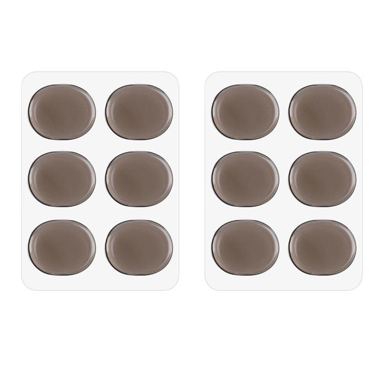 Drum Damper Gel Pads Transparent Grey Silicone Drums Silencer for Snare Drum Kit Set of 12 sunflower