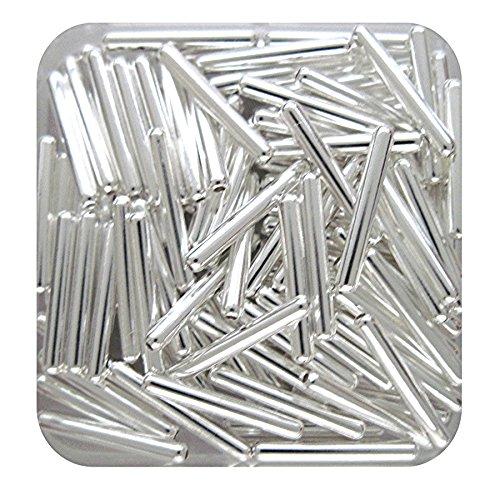 Silver 2mm Twist Tube Beads - 6
