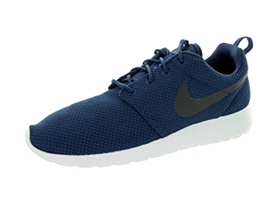 fbe5f7d4c9620 Image Unavailable. Image not available for. Color  Nike Men s Rosherun Midnight  Navy Black White Running Shoe ...