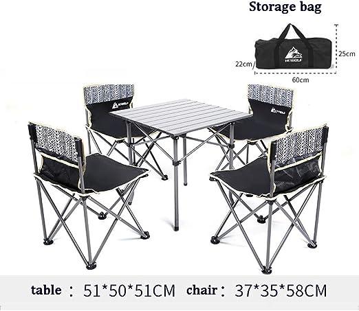 Mesas y sillas Plegables para el hogar, mesas y sillas de Picnic ...