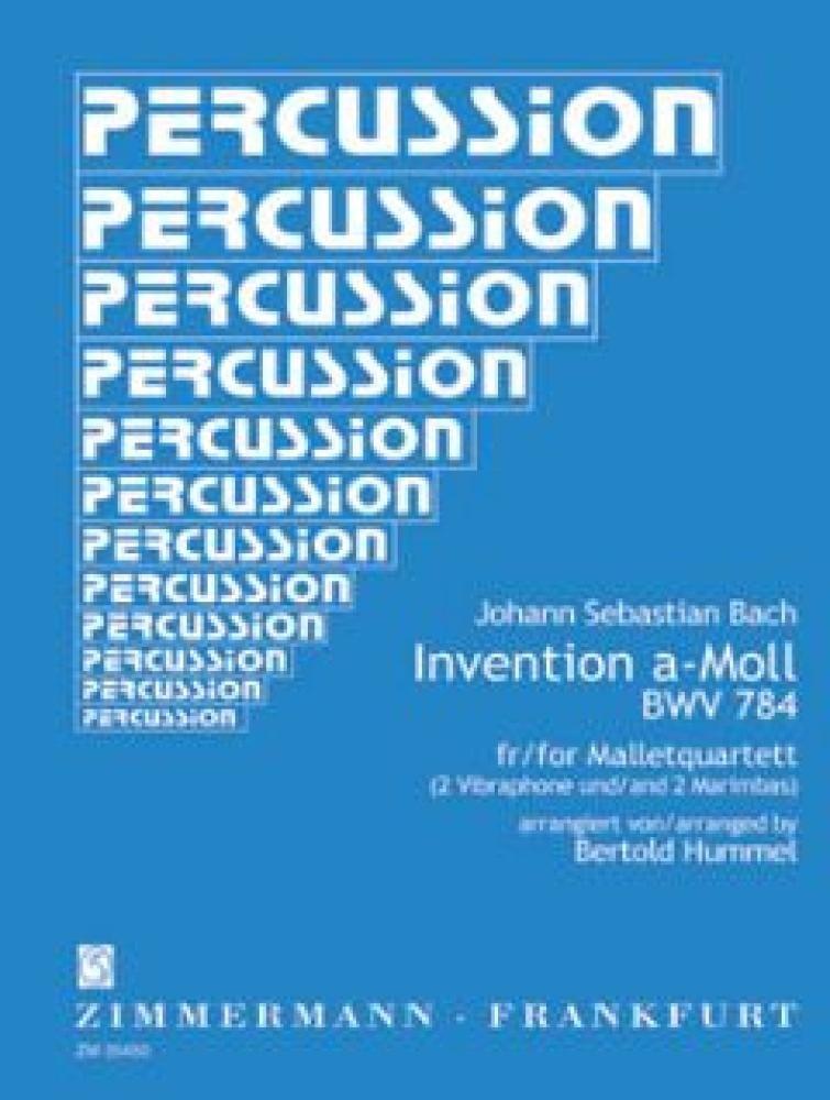 Invention a-Moll für Malletquartett  BWV 784 Johann Sebastian Bach