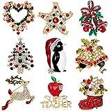 Christmas brooch Christmas tree collar boots snowman sleigh bells penguin corsage Christmas series