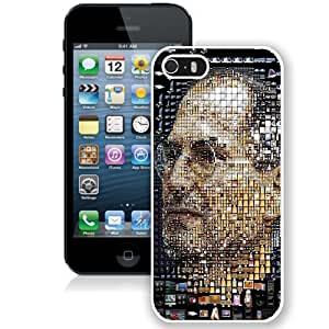 Fashionable Custom Designed iPhone 5S Phone Case With Steve Jobs Apple Products Portrait_White Phone Case