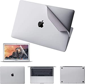 VFENG Premium 6 in 1 Silver Full Size 3M Decals Skins Covers for MacBook Pro 16.1 Inch with Touch Bar (Apple Model Number A2141), Including High Clear Screen Protector