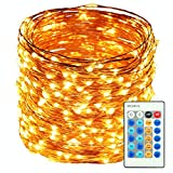HaMi 66ft 200 LED String Lights - Waterproof Christmas Lights Fairy Lights with UL Certified - Decorative Copper Wire Lights for Bedroom - Patio - Wedding - Party - Warm White