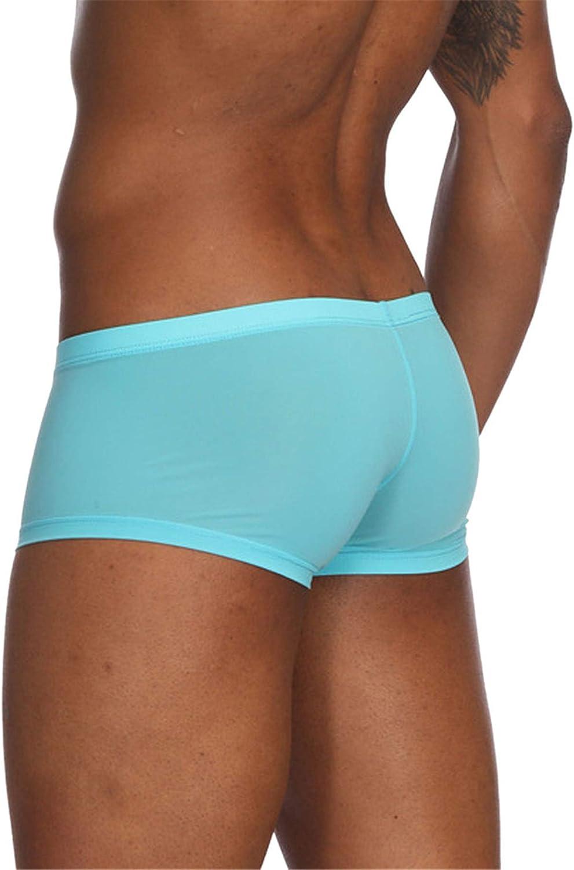 V/êtements Boxers Hommes Slips sans Couture Soie De Glace Doux Cale/çons Solide Couleur sous-V/êtements Shorts /Élastique Respirant Briefs