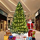 Dporticus 7 Ft Artificial Christmas Pine Tree with Solid Metal Legs and Anti-dust Bag Holiday Season