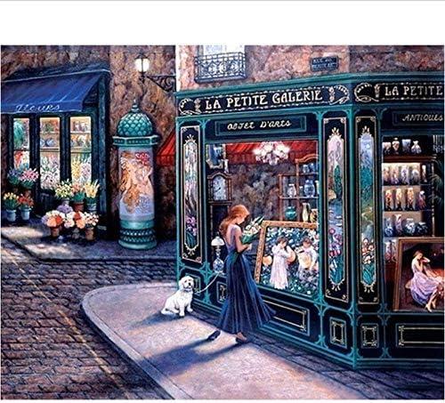 DIY 数による絵画 おとぎ話の店現代油絵の壁アート画像デジタル油絵手描きの家の装飾アートワーク特別なギフト-50*65cm