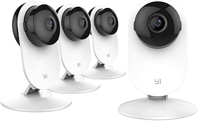 YI 4 Pieces Home Camera, Wi-Fi IP Security Surveillance System with Night Vision for Home, Office, Shop, Baby, Pet Monitor with iOS, Android, PC App - Cloud Service Available: Buy Online at Best Price in KSA - Souq is now Amazon.sa