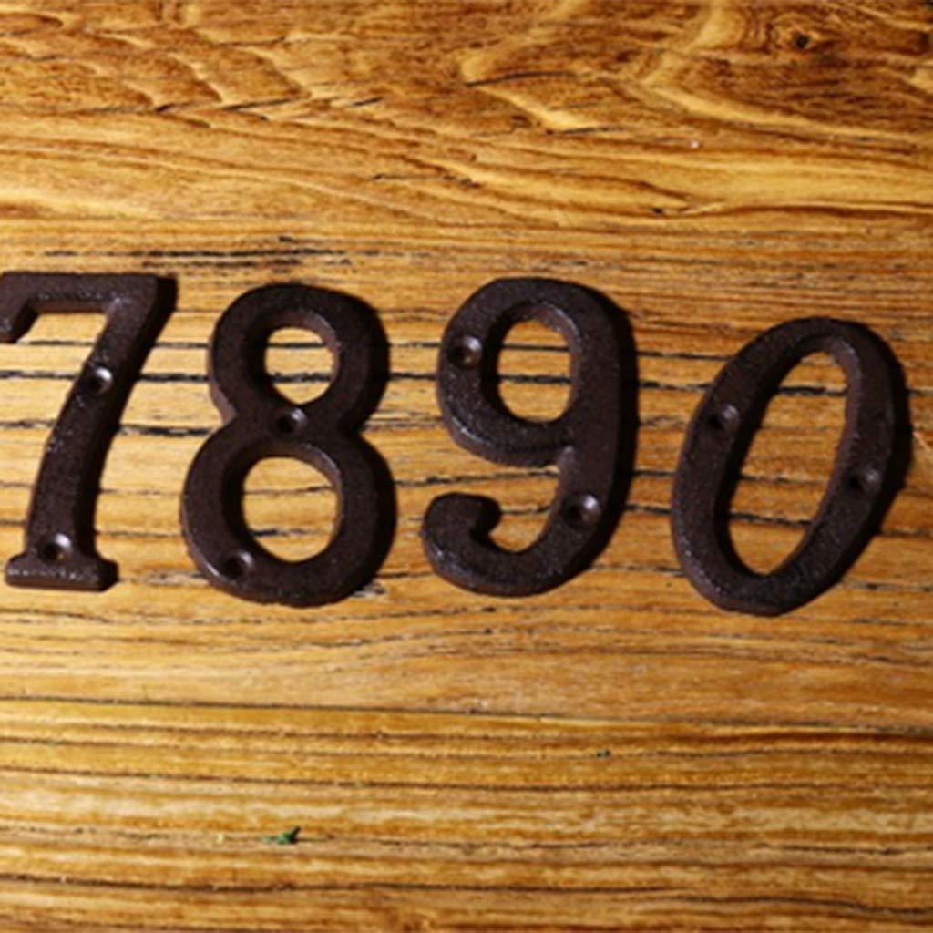 B Blesiya 0-9 Vintage Retro T/ürnummer Hausnummer Schilder T/ürschilder Nummer 0