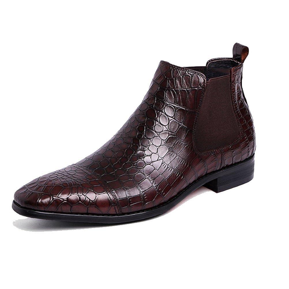 XYCSZQ Männer Lässig Geschäft Im Freien Atmungsaktiv Bequem Elegant Minimalist Bequem Lederstiefel