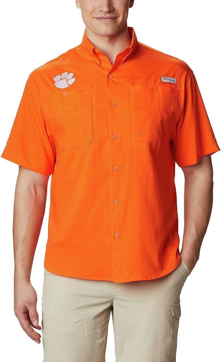 NCAA Clemson Tigers Men's Tamiami Short Sleeve Shirt, Large, CLE - Spark Orange : Clothing