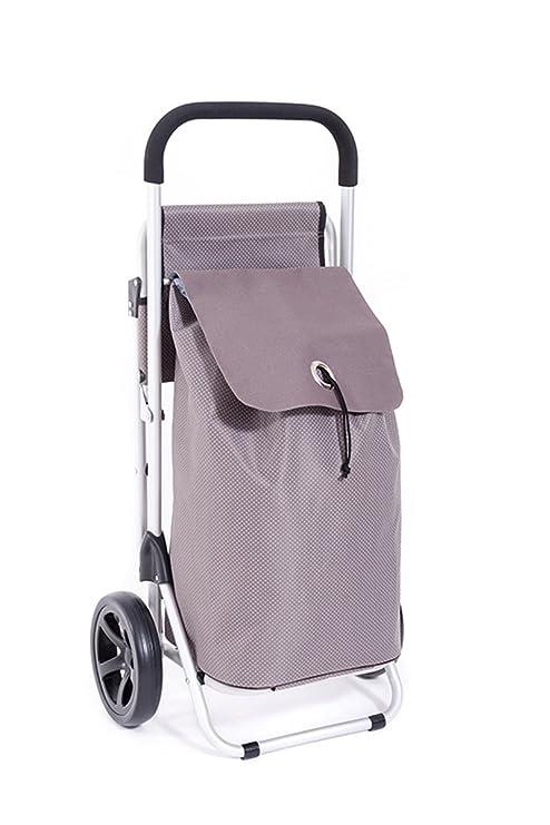 MM Exclusiv - Carro de la compra para tirar y empujar (sistema de 4 ruedas