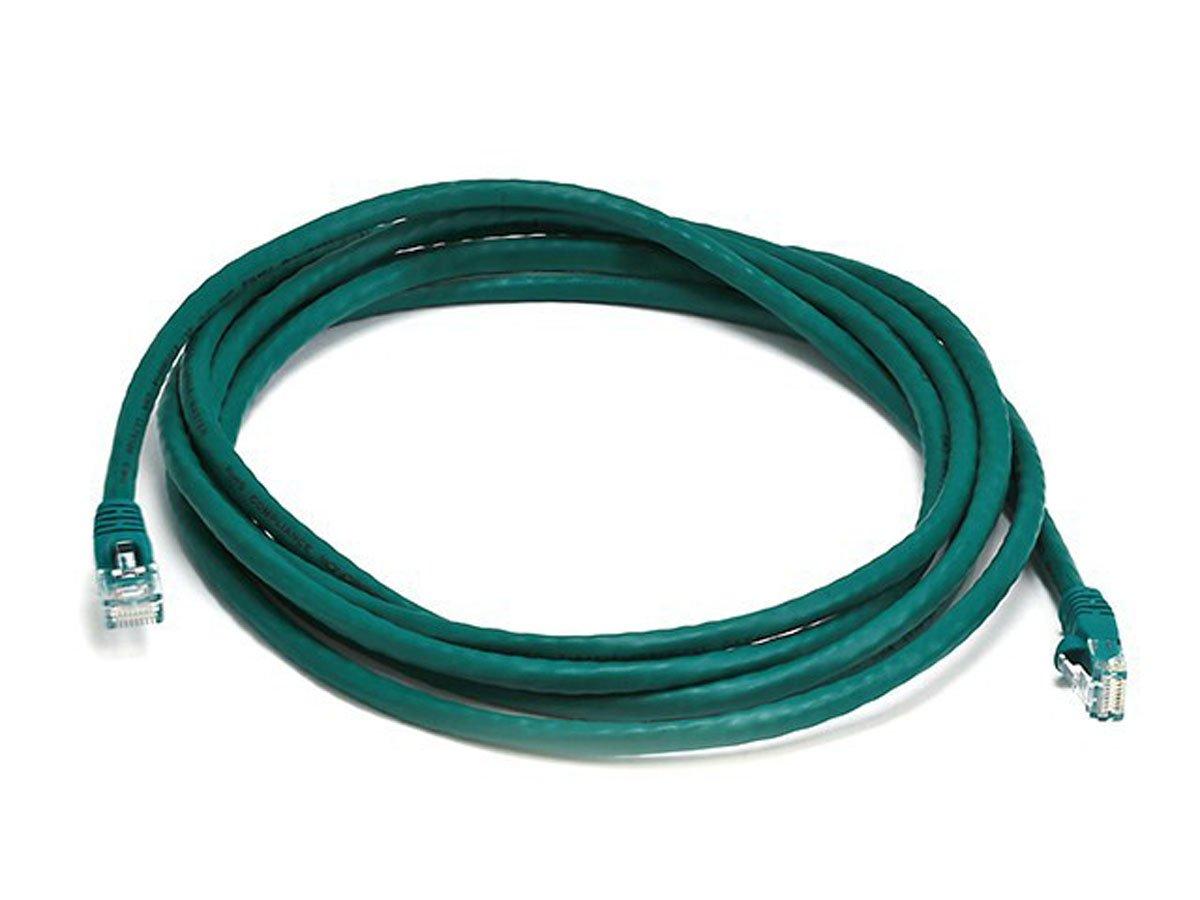 Green Monoprice 10FT 350MHz UTP Cat5e RJ45 Network Cable