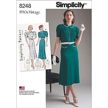 Simplicity patrón de Costura para Vestidos de la 8248 P5 – Patrones de Costura para