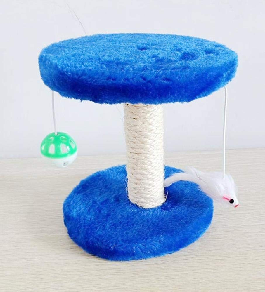 bluee Cat Furniture Play Towers and Trees Creative Play Towers Trees for Cats Sisal Double cat Climbing Frame cat Grab Column cat Tree for Game 20cm 20cm  18cm (color   bluee)