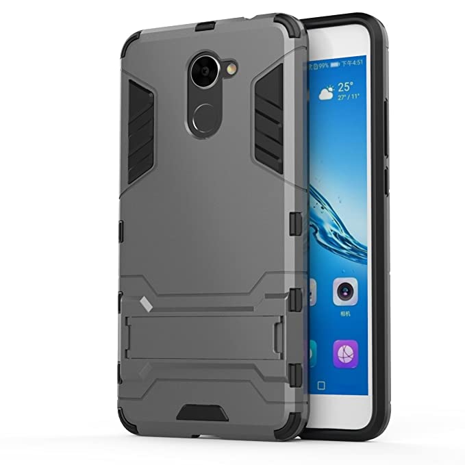 Huawei Y7 Prime Case, SsHhUu Shock Proof Cover Dual Layer Hybrid Armor Combo Protective Hard Case with Kickstand for Huawei Y7 Prime/Huawei Enjoy 7 ...