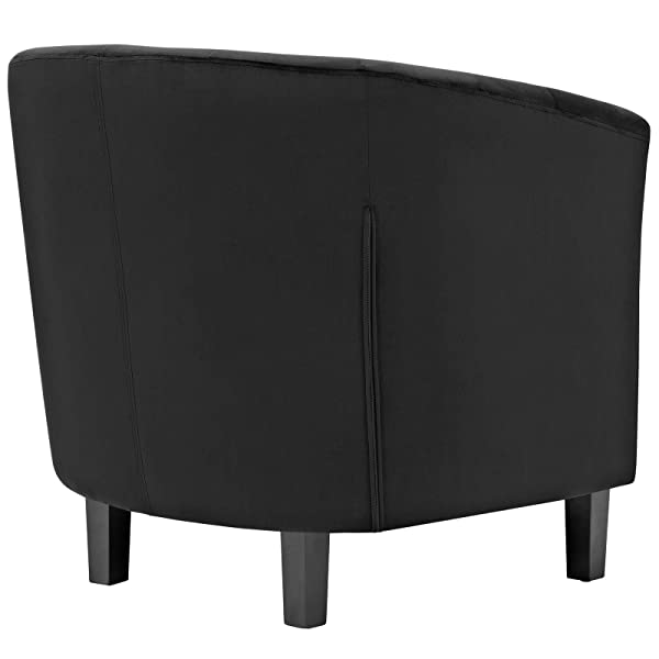 ModwayProspect Upholstered Velvet Contemporary Modern Accent Arm Chair Black