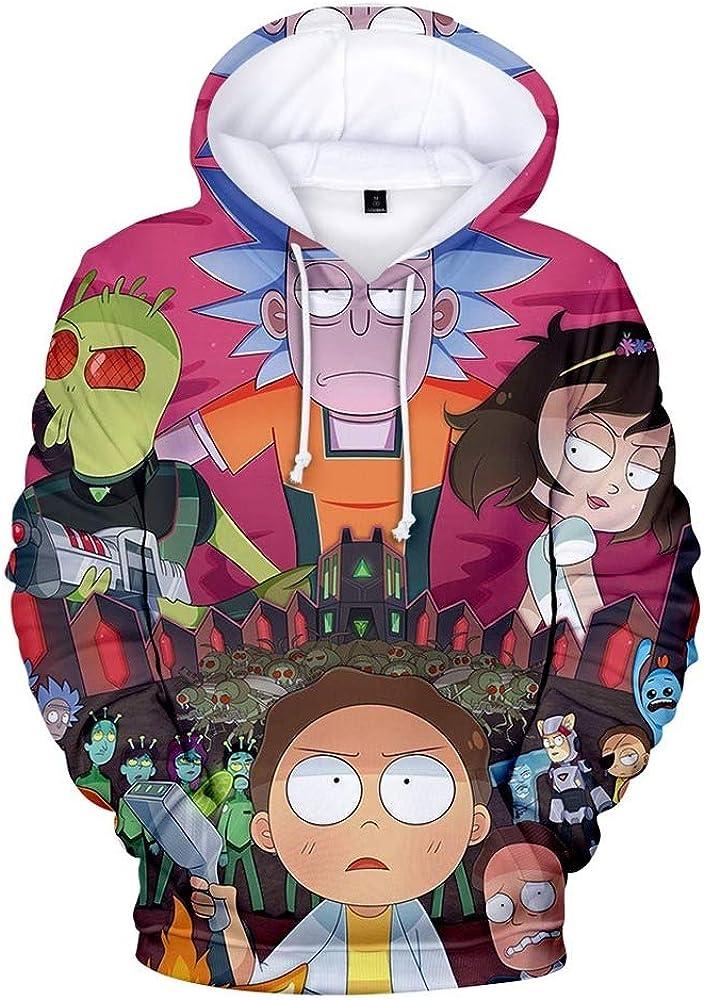 Sudaderas con capucha en 3D para mujeres//hombres Harajuku Streetwear Sudaderas con capucha de moda Rick and Morty dise/ños WAWNI Rick and Morty