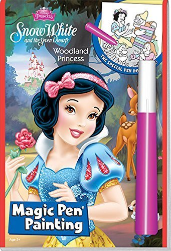 Lee Publications Disneys Snow White and the Seven Dwarfs Woodland Princess Magic Pen Painting