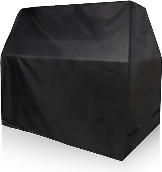 YISSVIC Copertura per Barbecue Copertura Tavolo Giardino Impermeabile Telo Protettivo per Barbecue Grill Impermeabile 210D Panno Oxford S 145/×61/×117cm Nero