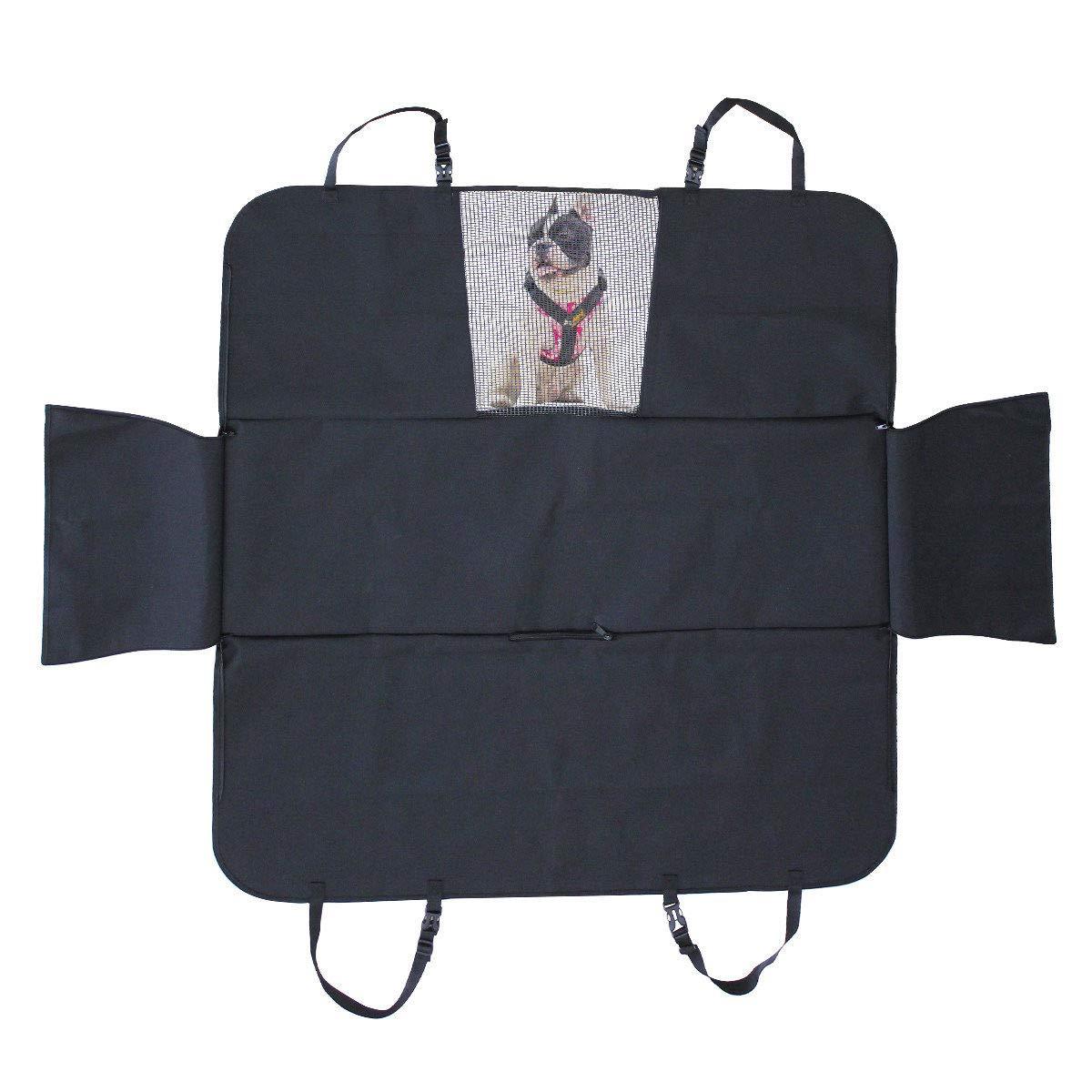 Black Original Pet Seat Cover for Cars. Water Resistant, Non Slip, Durable, Soft Backseat Hammock,Durable Pet Seat Covers for Cars Trucks and SUVs (Black)