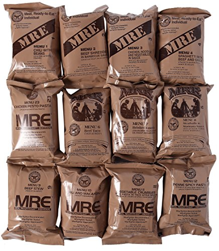 MRE 2019 Inspection Date Case A and Case B Bundle, 24 Meals Packed in 2016. Military Surplus Meal Ready to Eat.