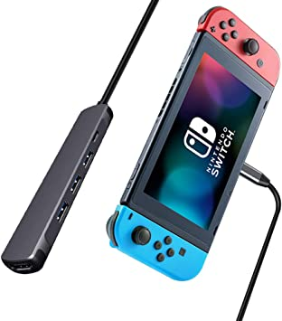 RREAKA Switch TV Dock,Portable Charging Stand for Nintendo Switch ...