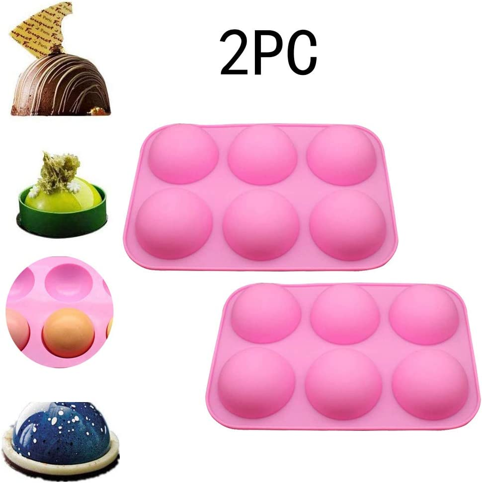 Half Ball Sphere Silicone Cake Mold Muffin Chocolate Cookie Baking Mould Pan1P C