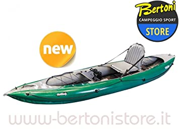 Kayak gonflable de pêche HALIBUT 1 person DEEP GREEN / GREY