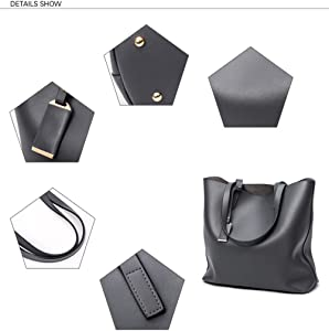 40dabd531815 Prime Sale Day Deals Week-Fashion Womens Leather Handbag Bucket Shoulder  Top-handle Bags. Back. Double-tap to zoom