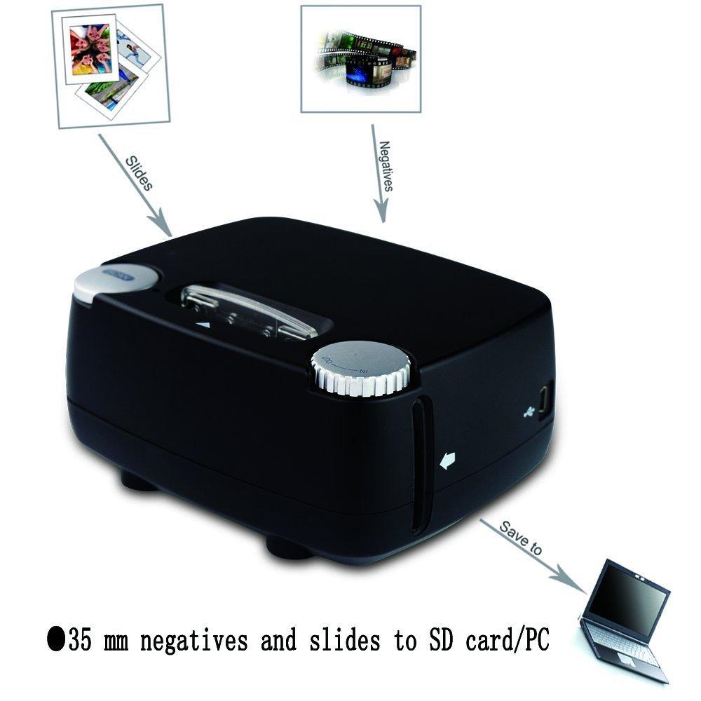Slide & Film Scanner for 135 / 35mm Negative & Slide Digitizing, Compatible with Windows XP/Vista/ 7/8/10 by Rybozen (Image #2)