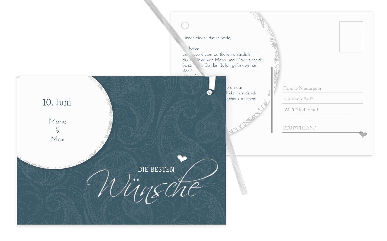 Ballonkarte Traumhochzeit, 80 Karten, Weiß B07CQDSK3R | Sonderpreis  | Bekannt für seine schöne Qualität  | Angemessene Lieferung und pünktliche Lieferung