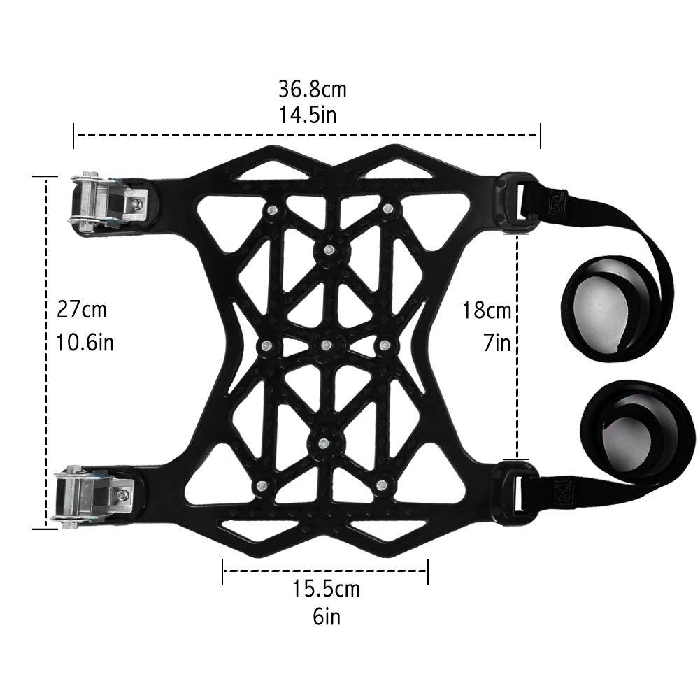 Kazeila Schneeketten Universal Auto Schneereifenketten 6 St/ück TPU-Material Anti-Rutsch Ketten Geeignet f/ür Reifenbreite 165mm-285mm(Gelb)