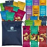 Sahale Snack Grab and Go Nut Blends WITH Biena Chickpea Snacks Variety Bundle: (24-Packs) Non-GMO, No Gluten, Kosher, Healthy Snacks