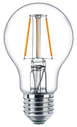 Philips – Bombilla LED (E27, 4 W, bombilla filamento blanco cálido luz