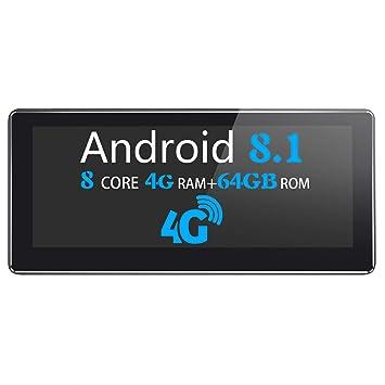 JOYFORWA Android 8.1 Autoradio 4GB + 64GB 8.8 Pulgadas Soporte de navegación GPS con DIN único Tarjeta SIM 4G (no incluida) / DSP/SPDIF/Android ...