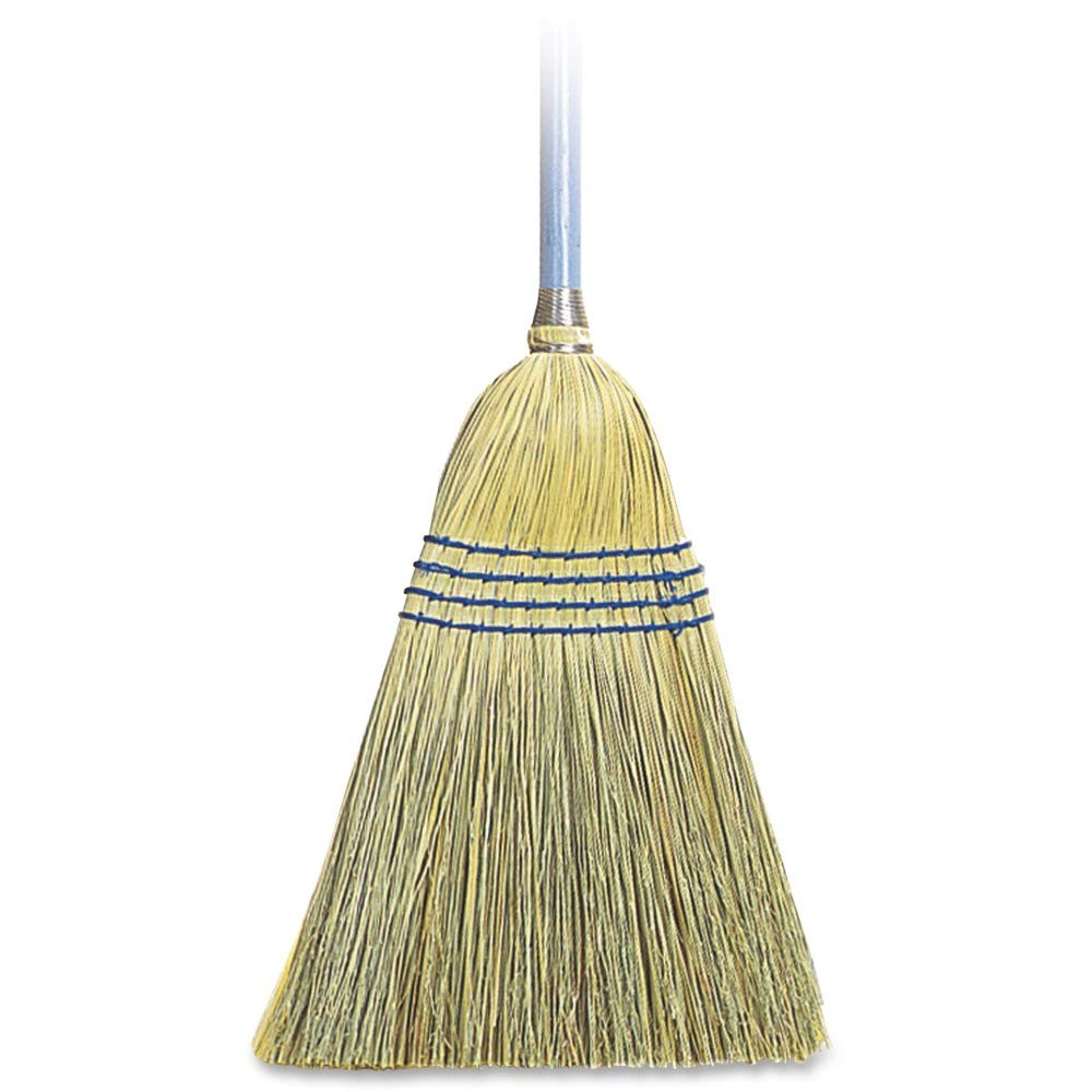 Genuine Joe GJO12002EA Lightweight Corn/Fiber Maids Broom, Natural (Pack of 12)