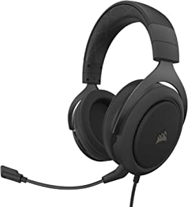 Corsair HS60 Pro – 7.1 Virtual Surround Sound PC Gaming Headset w/USB DAC - Discord Certified Headphones – Compatible with Xbox One, PS4, and Nintendo Switch – Carbon
