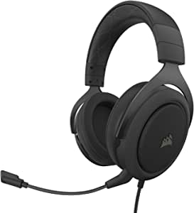 Corsair HS60 PRO - 7.1 Virtual Surround Sound Gaming Headset w/USB DAC - Discord Certified - Works with PC, Xbox Series X, Xbox Series S, Xbox One, PS5, PS4, and Nintendo Switch - Carbon