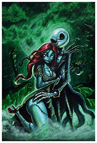 Jack and Sally by Joey Rotten Skellington Nightmare Before Christmas Art Print