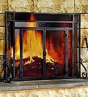 Plow & Hearth Two-Door Fire Screen W...