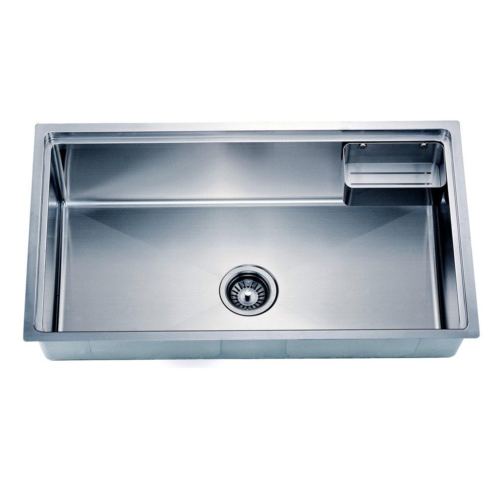 Dawn SRU311710 Undermount Small Corner Radius Single Bowl Sink with ...