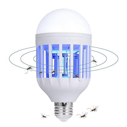 Teepao Bug Zapper Bombillas 2 en 1 LED antimosquitos Lámpara – Electrónica Bug Zapper Exterior Bombilla