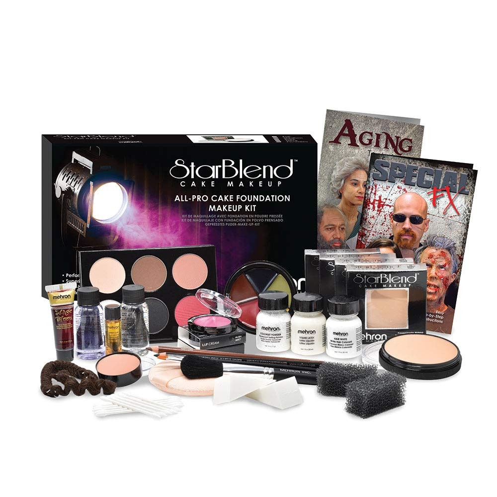 Mehron Makeup All-Pro StarBlend Cake Kit (Dark)